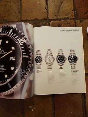 A4 Rolex sales catalogue / sales brochure with price list, 2001/2002.
