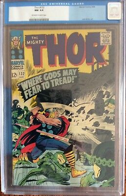 Thor 132 CGC 9.4 OW/WHITE pages!!!! 1st Ego!! Tough old blue label!!! new movie