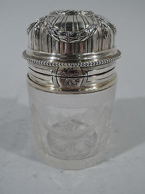 Antique Perfume - Rococo Bottle - French 950 Silver & Glass - Raoul Mauger