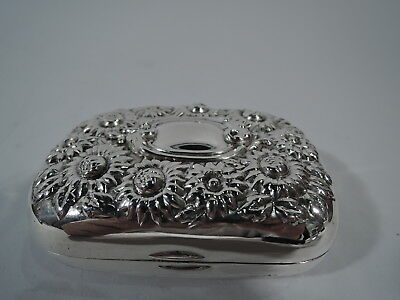 Antique Soap Box - Vanity Daisies Daisy Flowers - American Sterling Silver
