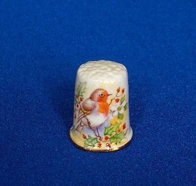 Thimble - Dunheved - Christmas Robin - Certificate of Authenticity