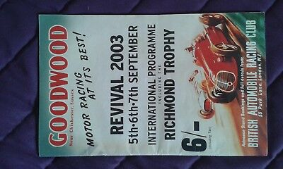 Motor racing memorabilia - Goodwood Revival 2003 signed by drivers