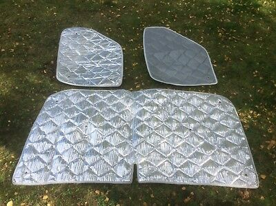 Motorhome Camper INTERNAL THERMAL SILVER SCREENS - UNIVERSAL FIT - EXCELLENT