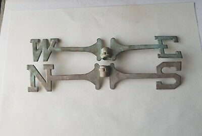 Antique Vintage Old Metal Weather Vane Directional Letters N S E W