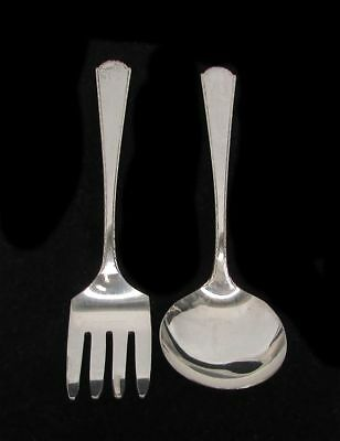 Sterling Silver Fork & Spoon Infant Set