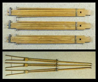 Antique HARDWOOD EXTENDING CAMERA TRIPOD LEGS - with Brass Fittings