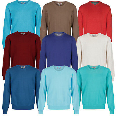 Marks & Spencer Mens Crew Neck Jumper New M&S Cotton Sweater Pullover - Free P&P