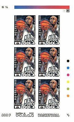 Mali 2011 6 Sheets Imperf Mng Basketball Baloncesto Sports Deportes