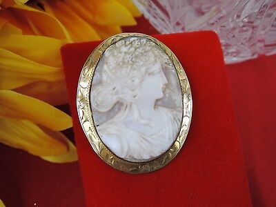Vintage Art Nouveau Cameo*high Relief Hair*stunning Detail*metal Unknown*no Mark