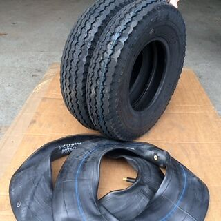 2x 4.80/4.00-8 6Ply 70M New High Speed Trailer wheelbarrow tubes and tyres x2