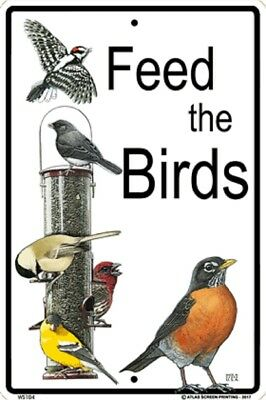 Feed the Birds Sign NEW 10 x 15  Bird Watching