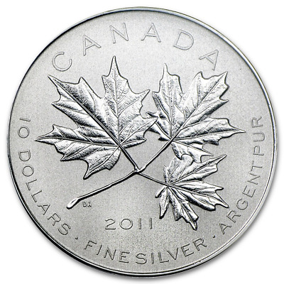 1/2 oz Silver Maple Leaf Forever Coin 2011