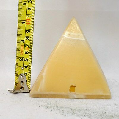 pyramid paper weight ornament marble pyramids lamp light