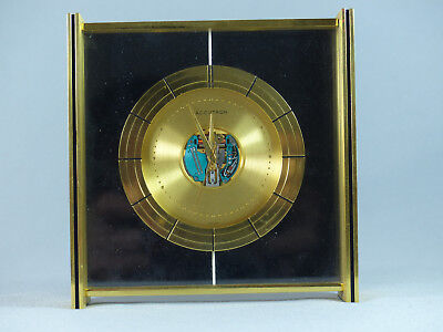 Vintage Bulova Accutron Spaceview Brass Desk Clock D3001 Runs Slow Selling AS IS