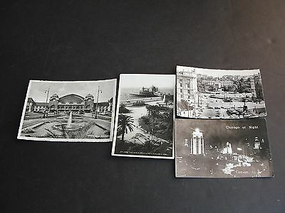 Set of (4) Postcards-1930s/50s, Images of Austria, France , Swiss city, Chicago.