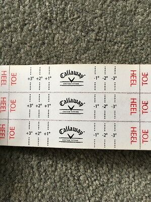 36 Callaway Golf Sole Impact Stickers
