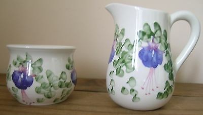 Cinque Ports Pottery The Monastery,jug & Bowl Floral Pattern