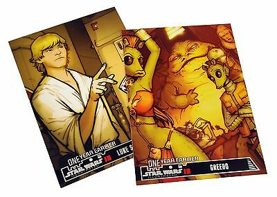 STAR WARS ILLUSTRATED 2013 One Year Earlier / Movie Poster CARD SET of 27 topps