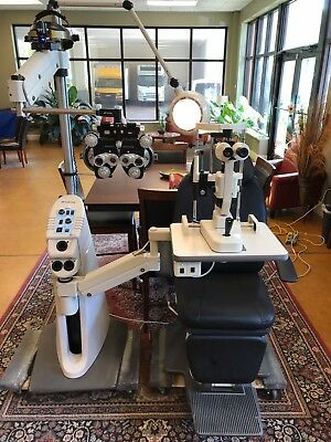 Topcon Chair OC-2200 & Instrument Stand IS-2500  Ophthalmic with