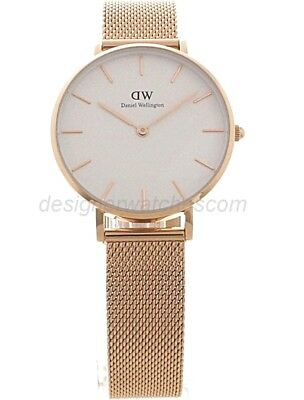*new* Daniel Wellington Dw00100163 Rose Gold Melrose White Dial Ladies Watch