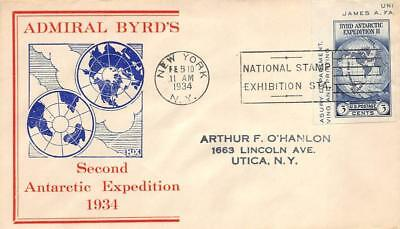 735a 3c Byrd S/S Single, First Day Cover Cachet [E278658]