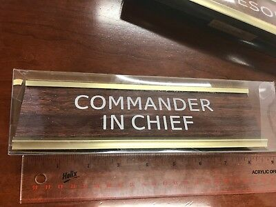 Commander In Chief Nameplate NEW