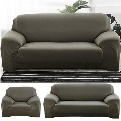 Spandex Lycra Stretch Couch Slipcover Sofa Chair Cover Protector 1/2/3 Seater