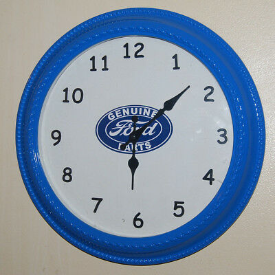 """16"""" Round FORD Genuine Parts Sign WALL CLOCK Garage Shop Racing Mancave NICE"""