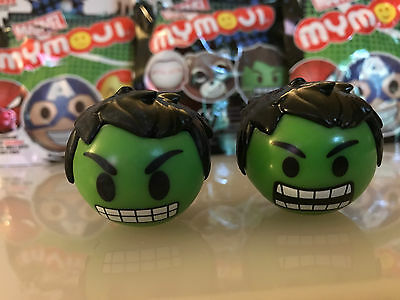 Funko Mymoji Marvel Comics Lot of 2 INCREDIBLE HULK With Packages and Codes
