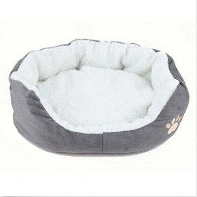 Pet Cave Bed Round Oval Shape Orthopedic Fleece Nesting Cats Small Dogs Washable