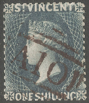 St Vincent 1866 Qv Perf 14 1/2 Fine Used Stamp