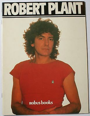 1984 Robert Plant Book w/Poster Attached Inside EX Led Zeppelin