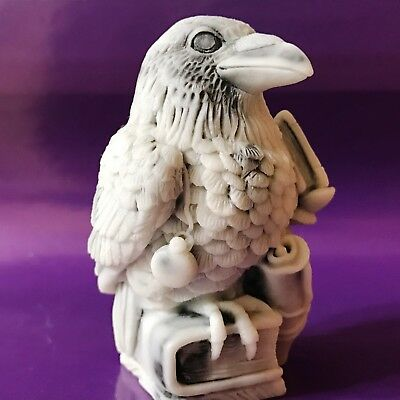 Raven figurine marble chips bird Crow Souvenirs from Russia