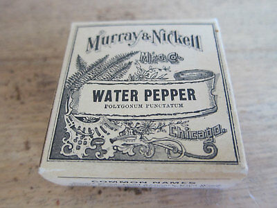 Vintage Advertising Apothecary Drugstore Water Pepper Packet by Murray & Nickell