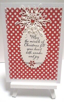Handmade Christmas Card: Small  Red Dotti