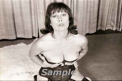 #9 Legendary U.K. Model June Palmer B/W negative size 35 mm Torso Pinup 1960's