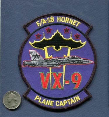 VX-9 VAMPIRES F-18 HORNET Plane Captain US NAVY Flight Test Squadron Patch