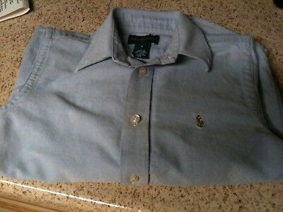 Ralph Lauren Boys Size 6 Classic Signature Button Down Shirt