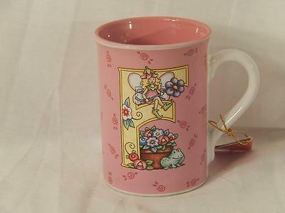 """Mary Engelbreit Enesco Letter Coffee Cup, Letter """"F"""", """"Frog, Fairy"""",2003, GC"""