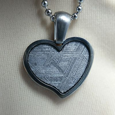 Meteorite pendant iron seymchan necklace amulet necklace jewelry mineral heart