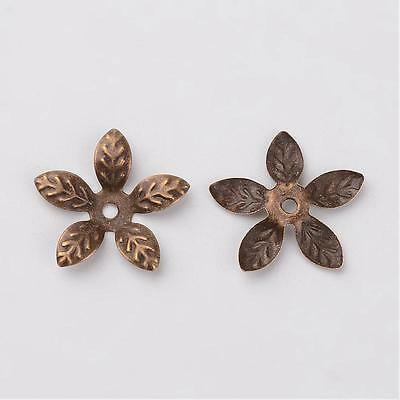 10 g Iron Flower Bead Caps Antique Bronze Color Spacer Bead Jewelry Findings DIY