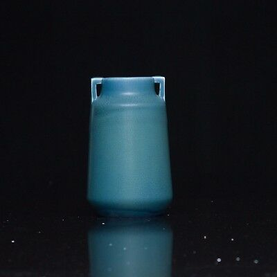 Rookwood Vase with Blue glaze, Double-arms to Mouth,  Excellent Condition