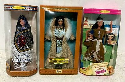NIB Spirit Of The Earth Barbie Northwest Coast Native American Indian Limited Ed