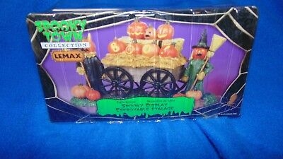 Lemax Spooky Town NIP Table Accent Display Wagon JOL 2010 Halloween