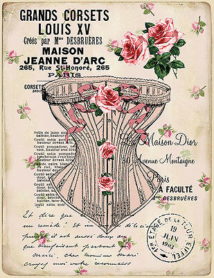 ViCToRiaN CorSeT PosTcArDs ShaBby WaTerSLiDe DeCALs