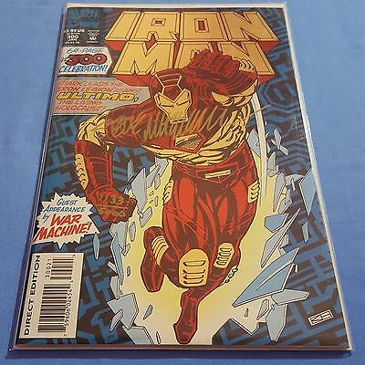Iron Man #300 NM Signed Steve Mitchell DF 1133/1500 CoA Marvel Uncertified