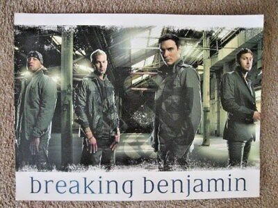 "BREAKING BENJAMIN 18x24"" COLOR POSTER  HEAVY ROCK RECORD BURNLEY"