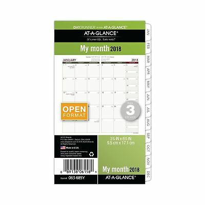 AT-A-GLANCE Day Runner Monthly Planner Refill January 2018 - December 2018 3-...