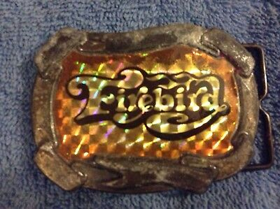 RARE Vintage Pontiac Firebird Car Belt Buckle Made In 1977