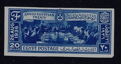 Egypt, 1936, Anglo-Egyptian Treaty, imperf. cancelled on back Nile Post C68a